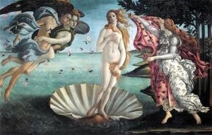 El nacimiento de Venus, Boticelli.