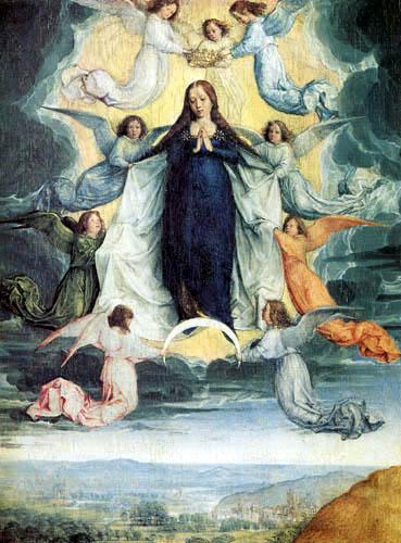 Ascención de la Virgen  S XV Michel Sittow